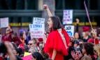 Manifestation pour la journée internationale des droits de la femme à New-York, 8 mars 2017. SIPA. 00797043_000012
