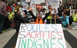 Manifestation des travailleurs indépendants contre le RSI, septembre 2015. SIPA. 00723958_000020