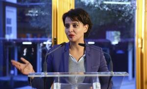 Najat Vallaud-Belkacem à Montpellier, décembre 2016. SIPA. 00783908_000027