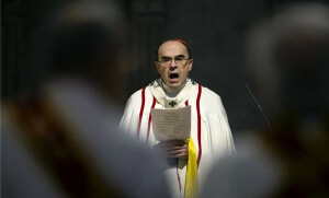 Le cardinal Barbarin à Lyon, avril 2016. SIPA. AP21906437_000001