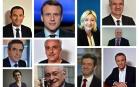 Les onze candidats à l'élection présidentielle 2017. SIPA. 00799340_000002