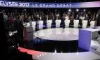 Le débat à onze candidats de CNews et BFM TV, avril 2017. SIPA. AP22036293_000012