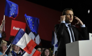 Emmanuel Macron à Arras, 26 avril 2017. SIPA. 00804104_000006