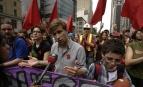 Gabriel Nadeau-Dubois lors d'une manifestation étudiante, mai 2012. SIPA. SIPAUSA31224447_000015