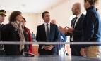 Manuel Valls visite le centre de déradicalisation de Pontourny, octobre 2016. SIPA. 00777888_000020