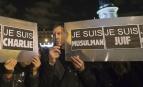Manifestation de soutien aux victimes des attentats de janvier 2015 en France. SIPA. AP21675165_000185
