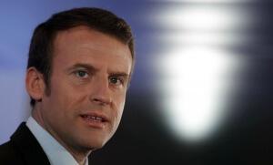 Emmanuel Macron, avril 2017. SIPA. AP22038491_000021