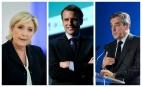 Marine Le Pen, Emmanuel Macron et François Fillon. SIPA. 00801808_000013 / REX40501003_000016 / 00801281_000008