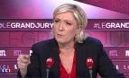 Marine Le Pen sur le plateau du Grand Jury de LCI, avril 2017.
