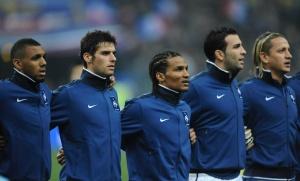 L'équipe de France de football, février 2011. SIPA. 00614085_000003