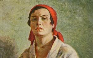Illustration d'une femme soviétique, 1927. SIPA. 51132084_000001
