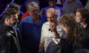 Philippe Poutou lors du débat présidentiel du 4 avril 2017. SIPA. 00801028_000012
