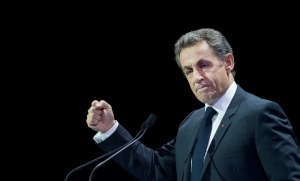 Nicolas Sarkozy en meeting à Paris, octobre 2016. SIPA. 00775954_000025