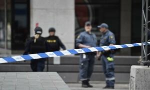 """Une """"attaque terroriste"""" a fait plusieurs morts à Stockholm en Suède, avril 2017. SIPA. AP22037523_000008"""