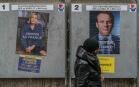 Les affiches de campagne du second tour de l'élection présidentielle, avril 2017, Paris. SIPA. 00804324_000001