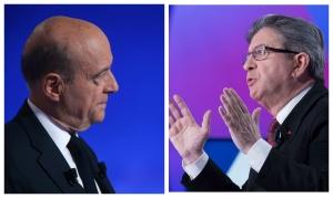 Alain Juppé (à gauche) et Jean-Luc Mélenchon (à droite). Photos: SIPA 00776749_000017 /  00803167_000008
