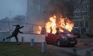 Emeutes contre les violences policières, Bobigny, février 2017. SIPA. 00793010_000007