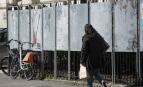 Panneaux électoraux vierges à Nantes, avril 2017. SIPA. 00800805_000007
