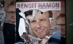 Affiche de campagne d'Emmanuel Macron, mai 2017. SIPA. 00805516_000002