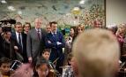 Emmanuel Macron dans une école d'Avallon, mars 2017. SIPA. 00799468_000019