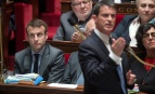 Emmanuel Macron et Manuel Valls à l'Assemblée nationale, mai 2016. SIPA. 00755009_000014