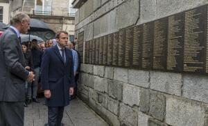 Emmanuel Macron au Mémorial de la Shoah, avril 2017. SIPA. 00804606_000020
