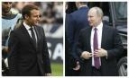 Emmanuel Macron et Vladimir Poutine. SIPA: 00808759_000017 / AP22057593_000008
