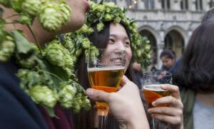 Week-end de la bière à Bruxelles, 2015. SIPA. 00722451_000031