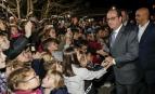François Hollande à l'école primaire d'Ayguesvives en Haute-Garonne, 2016. SIPA. 00782101_000008