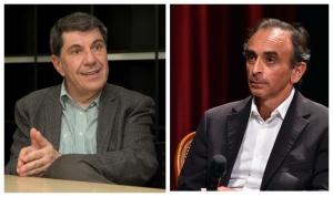 Jacques Sapir et Eric Zemmour. Photos SIPA: 00746087_000016 / 00715073_000035