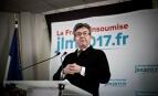 Conférence de presse de Jean-Luc Mélenchon à Paris, 7 mai 2017. SIPA. 00805547_000013