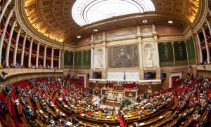 L'hémicycle de l'Assemblée nationale, Paris, octobre 2016. SIPA. 00775456_000012