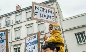 Manifestation anti-fn à Lyon, mai 2017. SIPA. 00804679_000014