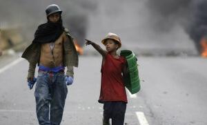Manifestants anti-Maduro à Caracas, mai 2017. SIPA. AP22053233_000023