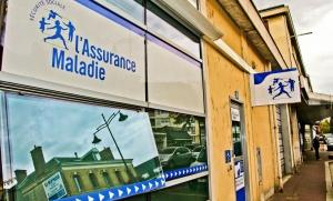 Façade de l'Assurance maladie de Lisieux, octobre 2016. SIPA. 00776698_000004