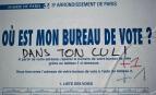 Affichage de campagne à Paris, avril 2017. SIPA. 00804705_000002
