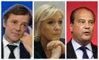 François Baroin, Marine Le Pen et Jean-Christophe Cambadélis. SIPA. 00806011_000006 / AP22046324_000031 / 00811569_000010