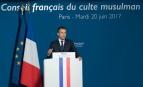 Emmanuel Macron au diner du CFCM à Paris le 20 juin 2017. SIPA. 00811891_000004