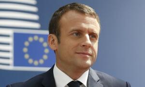 Emmanuel Macron lors du sommet européen de Bruxelles, juin 2017. SIPA. AP22068897_000116
