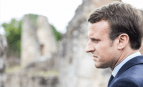 Emmanuel Macron à Oradour-sur-Glane, avril 2017. SIPA. 00804431_000034
