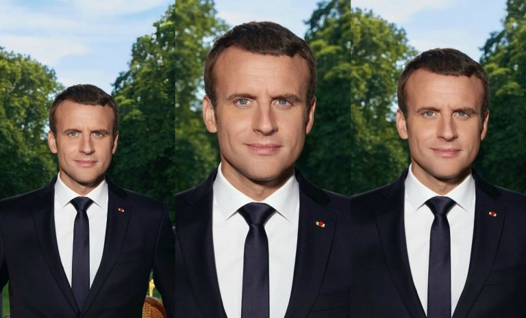 Photo officielle: Portrait de Macron en Julien Sorel