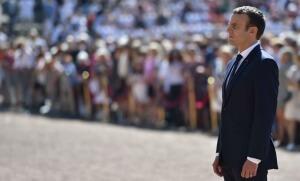 Emmanuel Macron au Mont Valérien, 18 juin 2017. SIPA. 00811551_000087