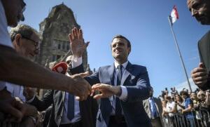 Emmanuel Macron a voté au Touquet, juin 2017. SIPA. AP22064185_000051