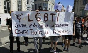 """""""Marche des fiertés"""" à Grenoble, 2015. SIPA. 00714435_000006"""