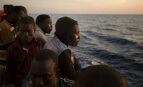 Migrants à la frontière italienne, juin 2017. SIPA. AP22066895_000007