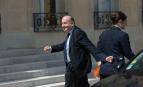 Le patron du Medef, Pierre Gattaz, arrive à l'Elysée pour rencontrer Emmanuel Macron, Paris, mai 2017. SIPA. 00807997_000002