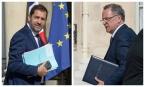Christophe Castaner et Richard Ferrand font partie des ministres dont le poste est mis en danger par les législatives. SIPA. 00810145_000016 / 00810145_000012