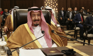 Le roi Salmane d'Arabie Saoudite, mars 2017. SIPA. AP22033541_000017