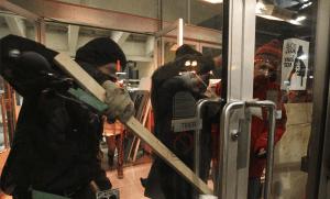 Manifestation d'étudiants de l'UQAM à Montréal en avril 2015. SIPA. SIPAUSA31374049_000023