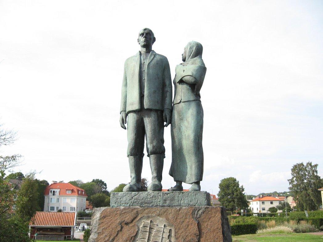Oskar és Kristina, a kivándorlók szobra
